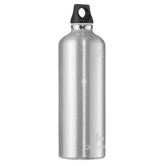 Drinkfles voor wandelingen 100 met schroefdop 0,75 liter aluminium - 1058402