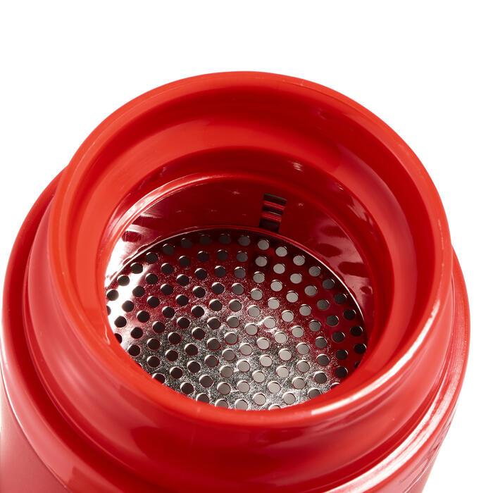 Mug isotermo senderismo acero inoxidable 0,35 L rojo