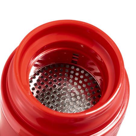Термочашка для туризму, з неіржавної сталі, 0,35 л - Червона