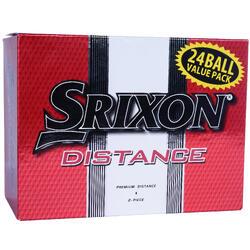 Golfballen Distance dubbelpak x24 wit