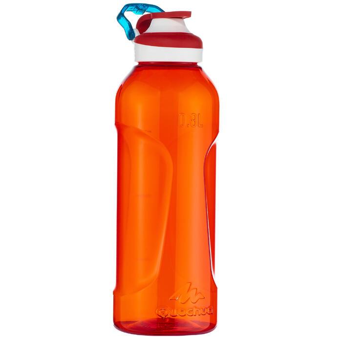 Cantimplora de senderismo 500 tapón apertura rápida 0,8 L plástico (Tritán) roja