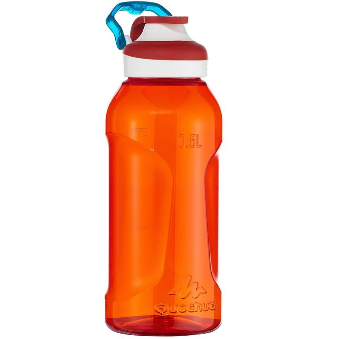 Gourde randonnée 500 bouchon ouverture rapide 0,5 litre plastique (Tritan) rouge