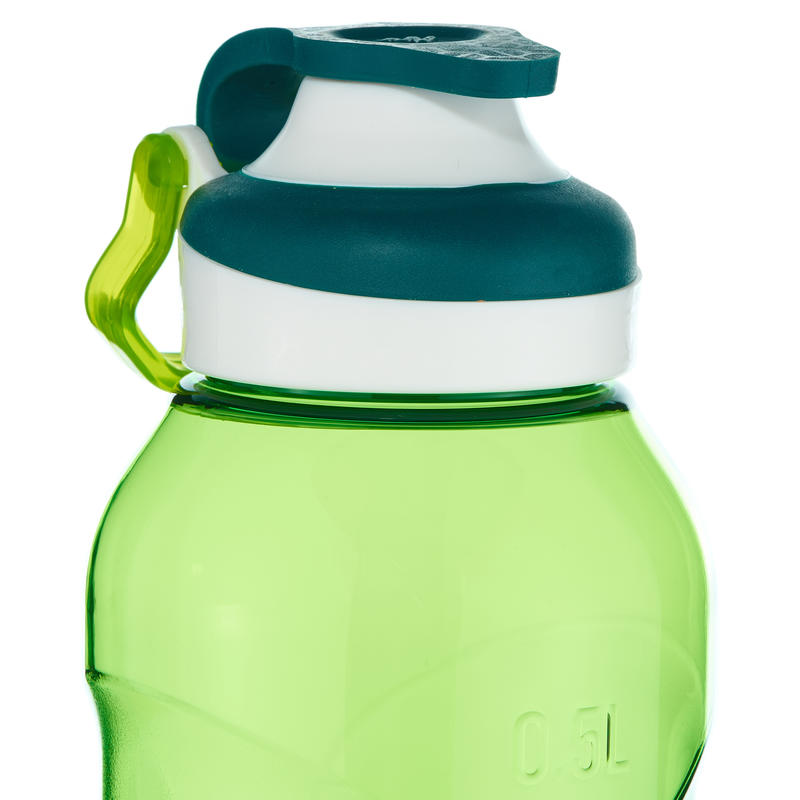 500 Tritan 0.5L Hiking Water Bottle with Quick-Opening Top - Green