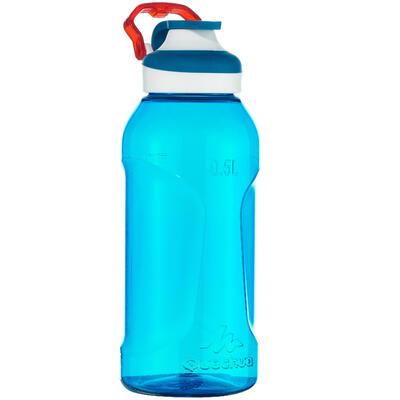 زجاجة 500 للتنزه سريعة الفتح مصنوعة من البلاستيك (Tritan) لون أزرق