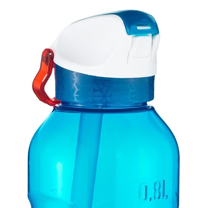 Quick-open Tritan 900 Hiking flask with straw - 0.8 litre, Blue