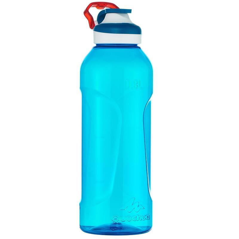快開式塑膠健行水瓶Tritan 500(附吸管,0.8 L)-藍色