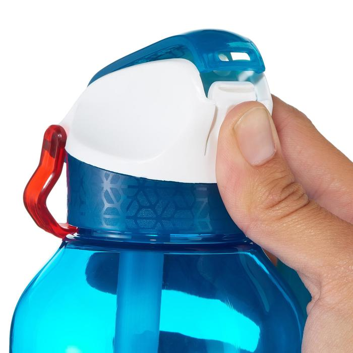 按扣式健行水瓶(附吸管)Tritan 900 0.5 L-藍色