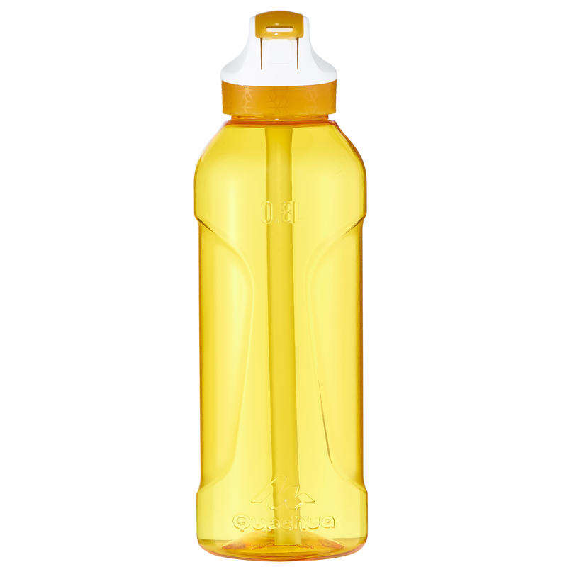 Hiking flask 900 instant stopper with pipette 0.8 litre Tritan yellow