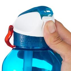 900 Hiking Flask instant opening with straw, 0.8 litre plastic (Tritan) - Blue