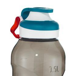 Hiking flask 500, fast opening top, 0.5 litres, black plastic (Tritan)