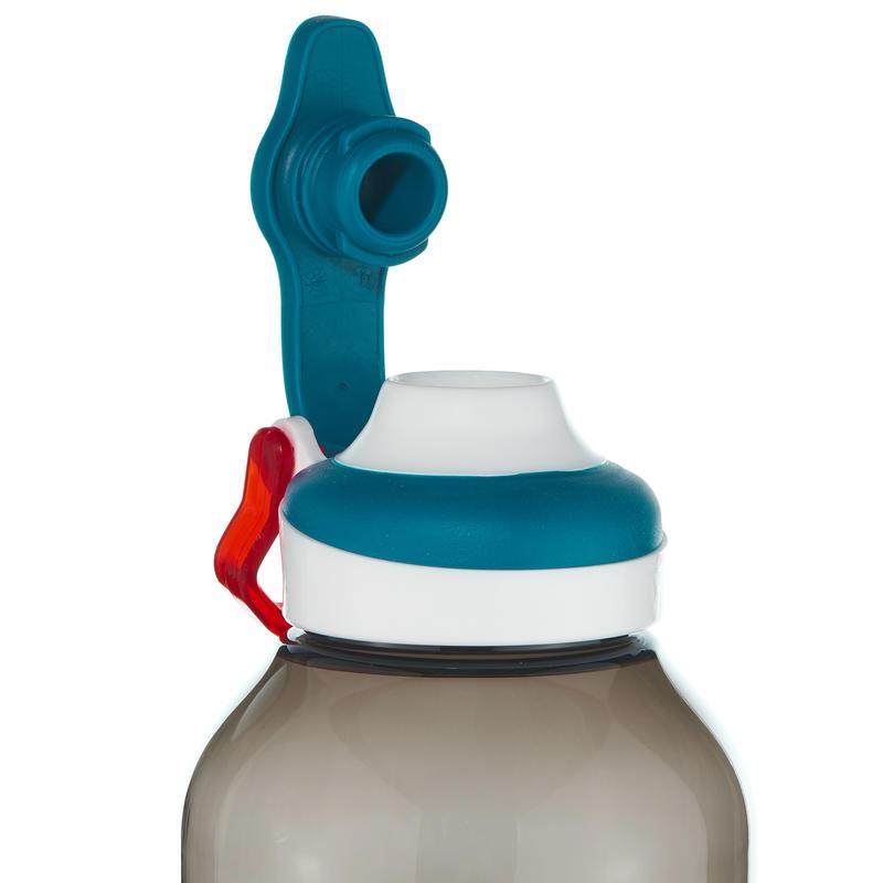 Mountain Hiking Water Bottle Tritan Plastic 500 fast opening cap 0.8L -black