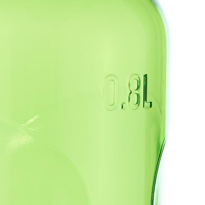 Gourde randonnée 500 bouchon ouverture rapide 0,8 litre plastique Tritan vert
