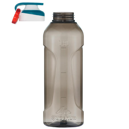 Hiking flask 500 quick opening cap 0.8 litre plastic (Tritan) black