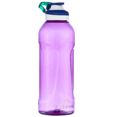 Cantimplora Botella Plástico Camping Quechua 500 Apertura Fácil 0,8 Litros Lila