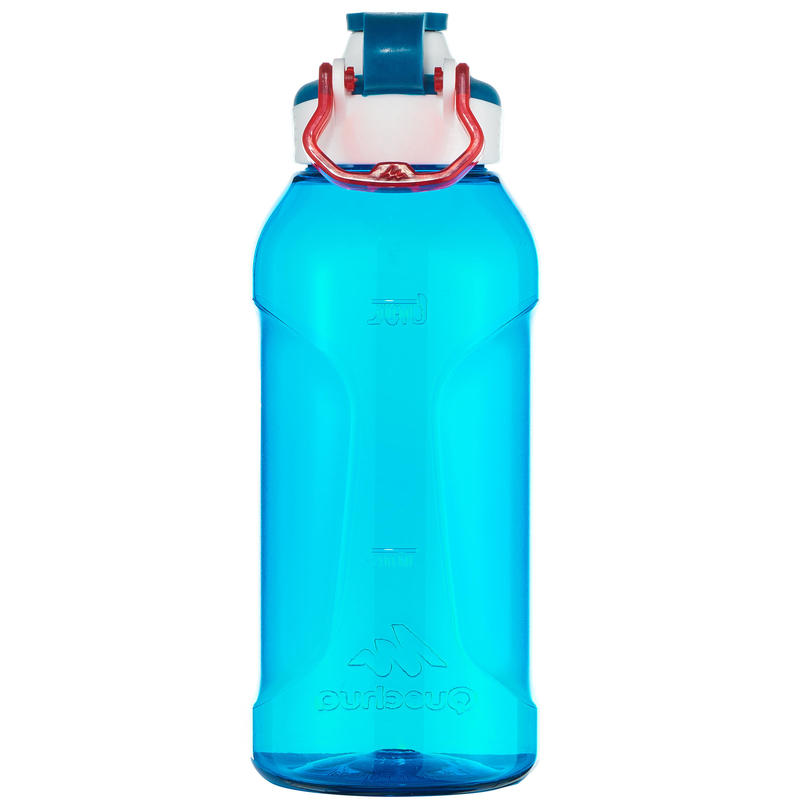 Mountain Hiking Water Bottle Tritan Plastic Quick-Open 500 0.5L -Blue