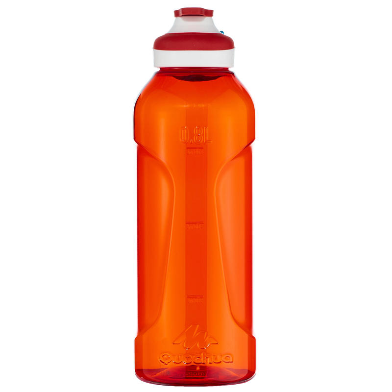 Hiking water bottle 500 fast opening cap 0.8 litre Tritan plastic - Red