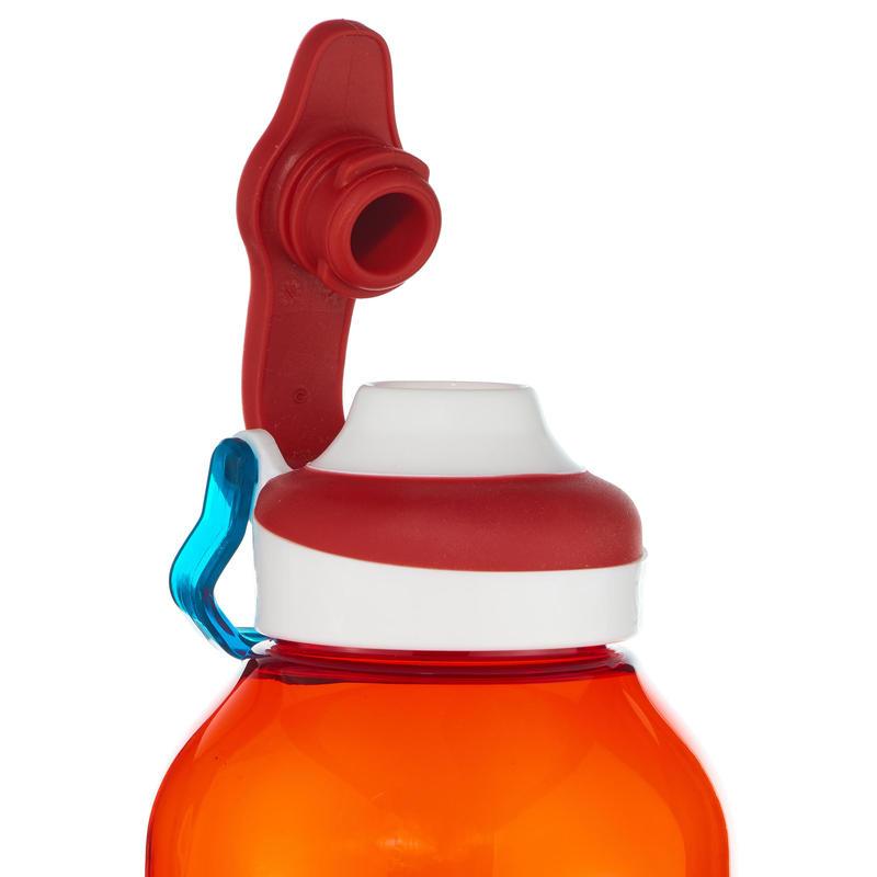 Mountain Hiking Water Bottle Tritan Plastic Quick-Open 500 0.5L- Red