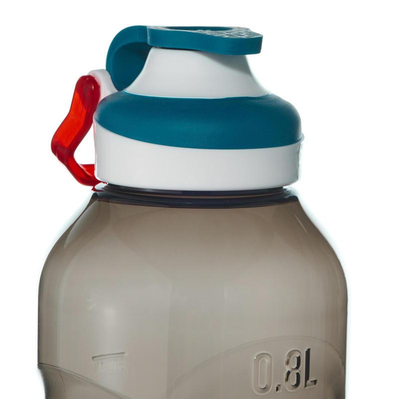 Hiking flask 500 quick opening cap 0.8 litre plastic (Tritan) black