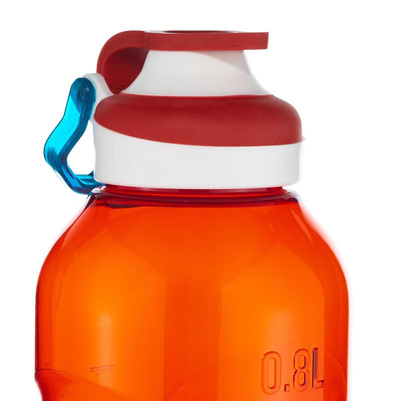 Mountain Hiking Water Bottle Tritan Plastic 500 fast opening cap 0.8L - Red
