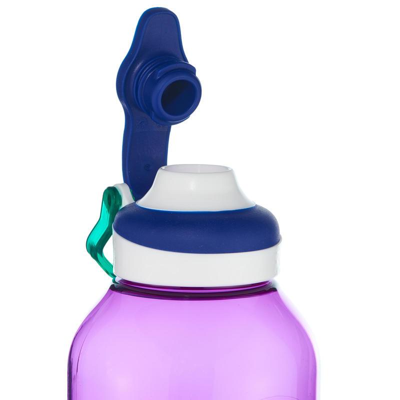 Mountain Hiking Water Bottle Tritan Plastic 500 fast opening cap 0.8 L - Purple