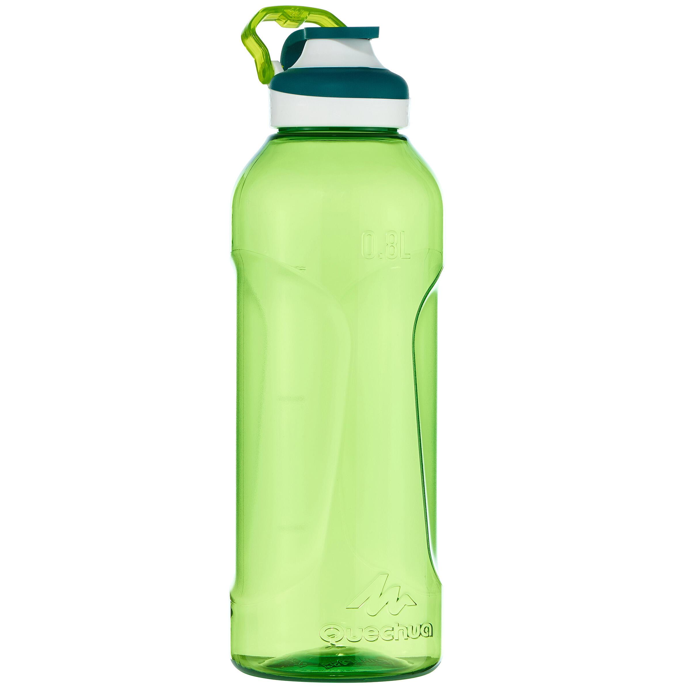 Botella de senderismo 500 tapón apertura rápida 0.8 l plástico Tritán verde
