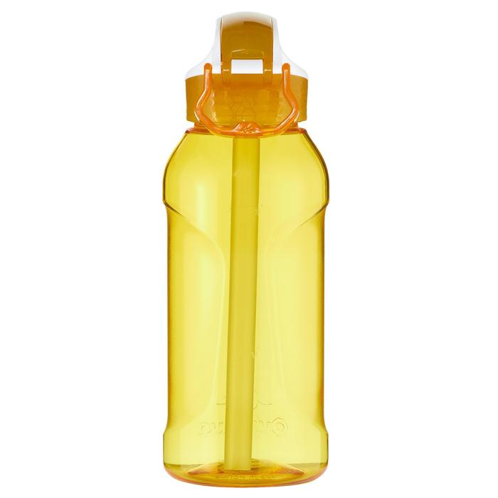 900 Tritan 0.5L Hiking Water Bottle Quick-Opening Top and Drinking Tube - Yellow
