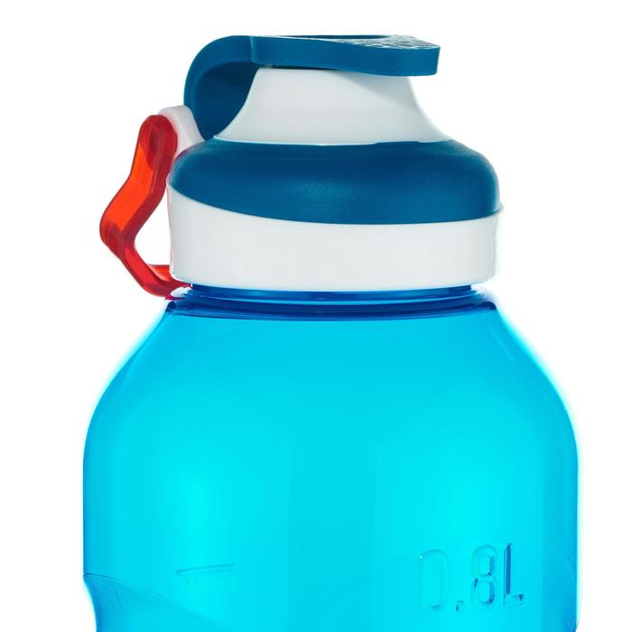 Quick-open Tritan plastic 500 Hiking flask with straw - 0.8 litre - Blue