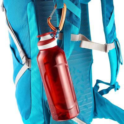 Hiking water bottle 500 fast opening cap 0.8 litre Tritan plastic - Red