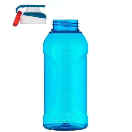 Cantimplora Botella Plástico Camping Quechua 500 Azul Apertura Fácil 0,5 L