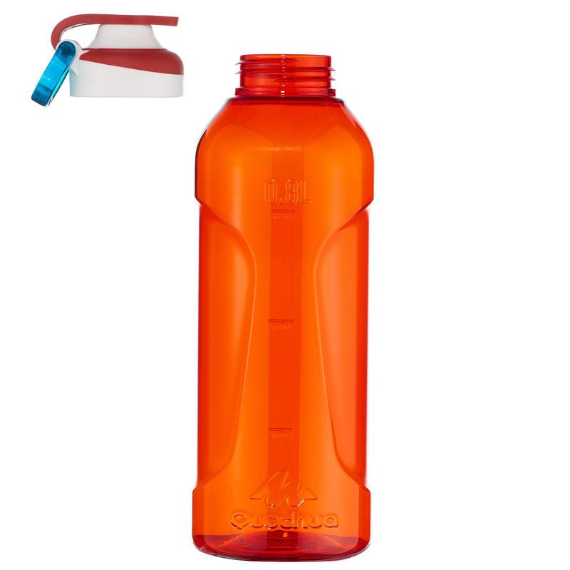 ขวดน้ำพลาสติก Tritan พร้อมฝาปิดแบบเปิดได้ทันทีขนาด 0.8 ลิตรรุ่น 500 (สีแดง)