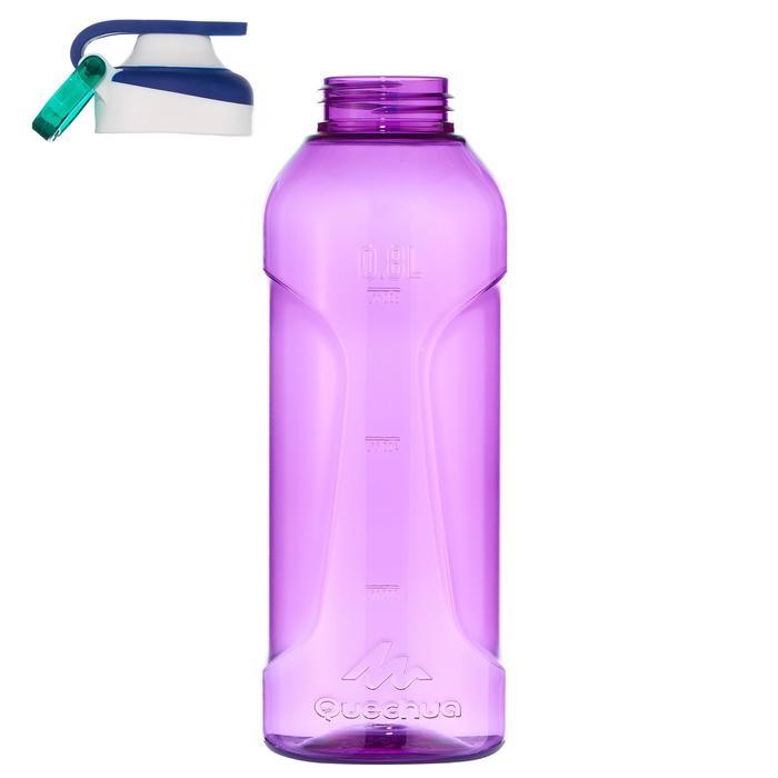 Gourde randonnée 500 bouchon ouverture rapide 0,8 litre plastique (Tritan) - 1058600