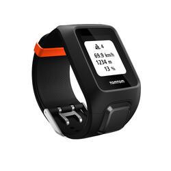 GPS-sporthorloge Adventurer hartslag+muziek aan de pols zwart/oranje (maat L)