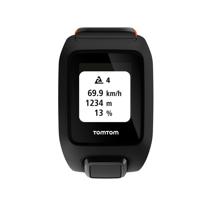 Montre de sport GPS Adventurer cardio + music au poignet noir/orange (taille L) - 1058658
