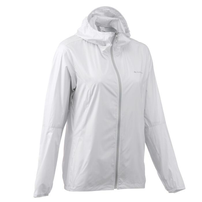 FH100 Helium Wind Women's hiking windproof jacket - Grey - 1058703
