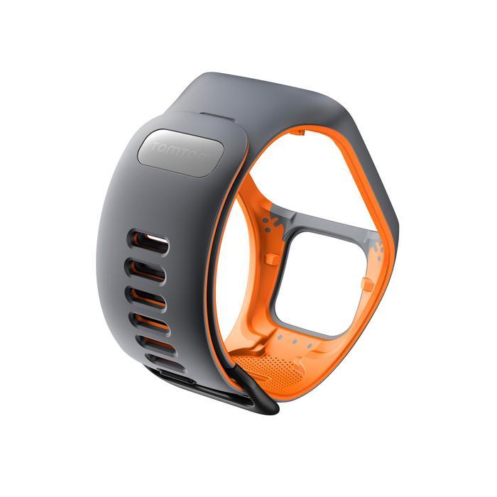 Bracelet de rechange pour Runner 2 / 3 et Golfer 2 gris/orange (taille L) - 1058707