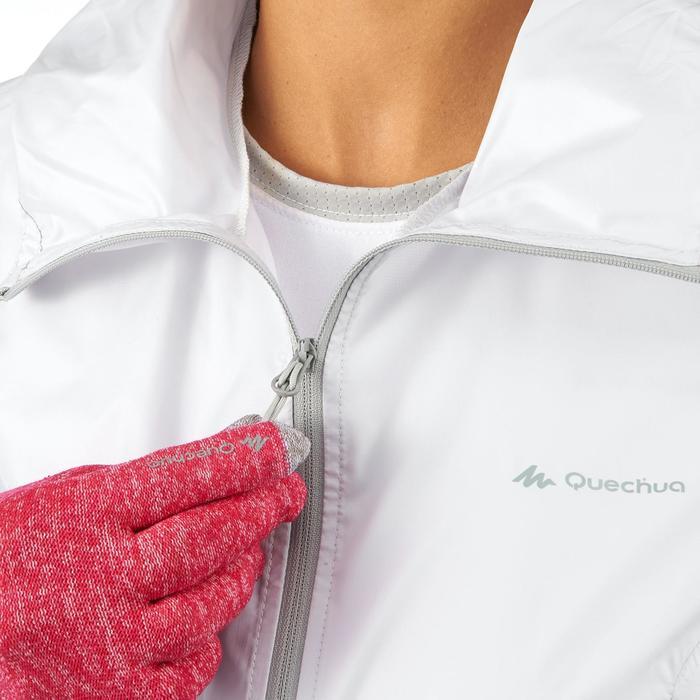 女性防風健行運動外套 FH100 Helium Wind - 灰色