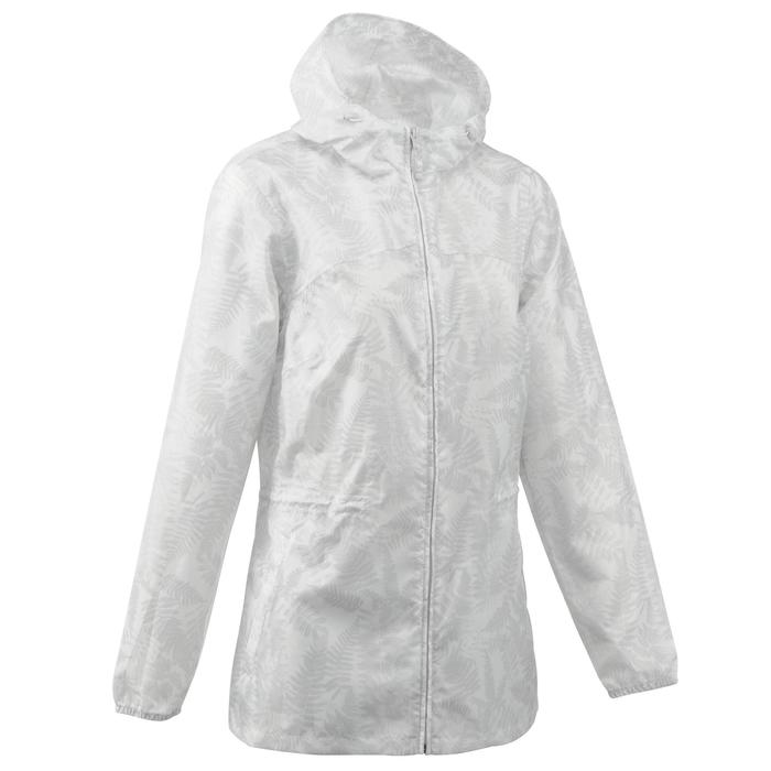 Regenjas voor wandelen dames Raincut rits wit