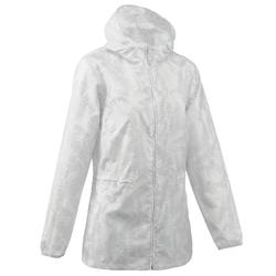 Women's Raincut Zip waterproof nature hiking rain jacket – White