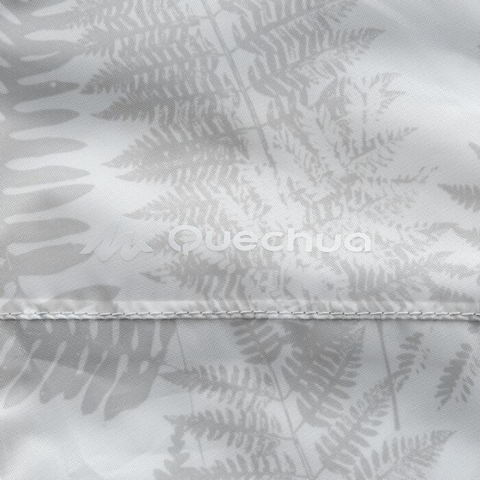 Chaqueta Impermeable Montaña y Senderismo Quechua NH100 Raincut Mujer Blanco