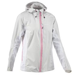 Women's Waterproof Fast Hiking Jacket FH500 Helium Rain - White