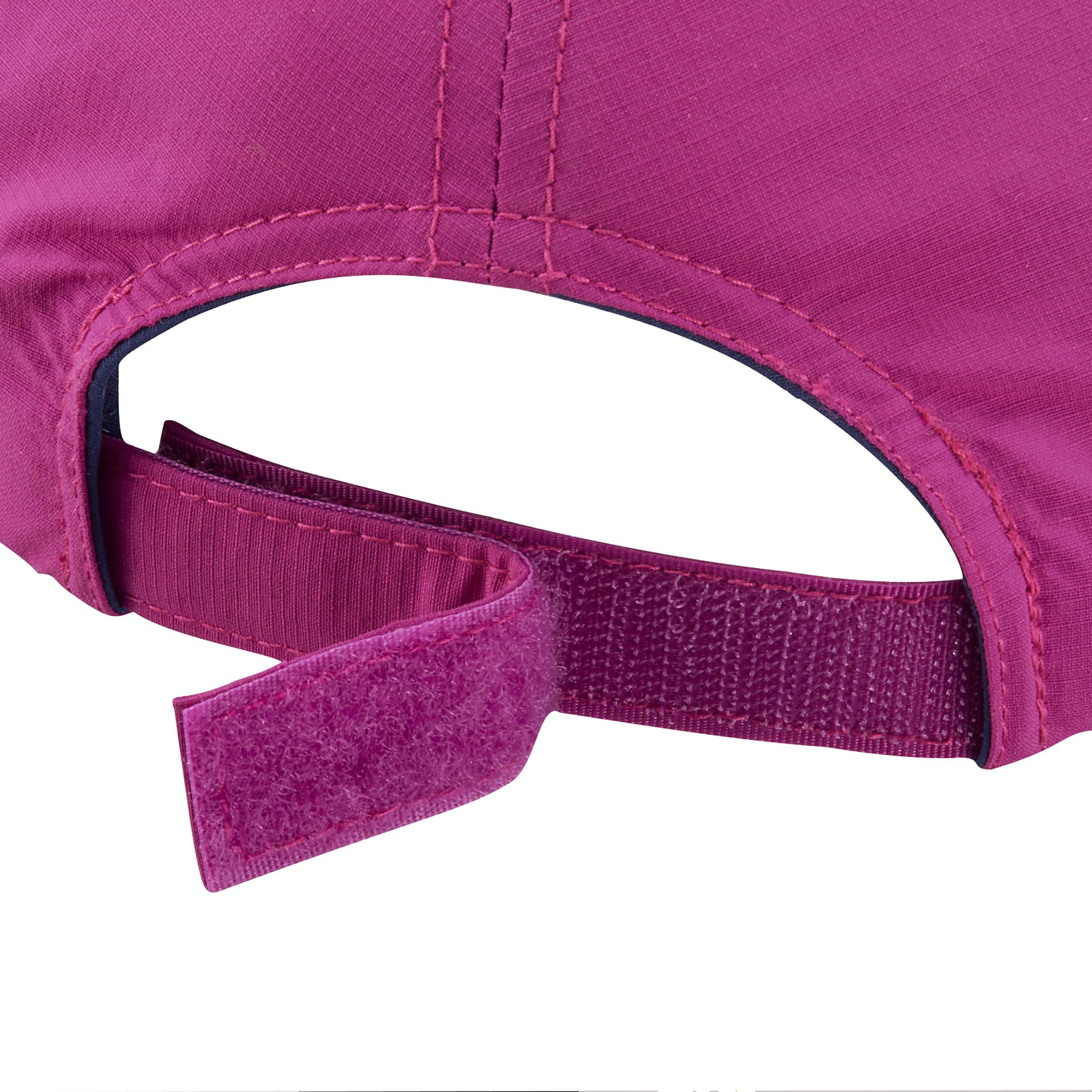 Casquette de randonnée fille Hike 100 violet