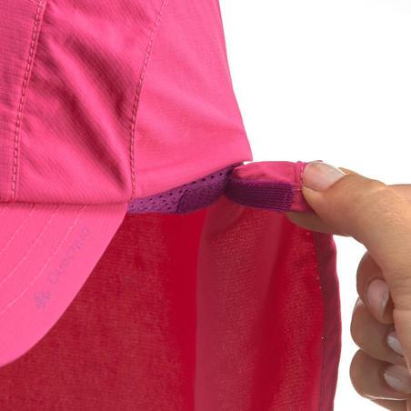 Gorra de senderismo niños MH500 rosa