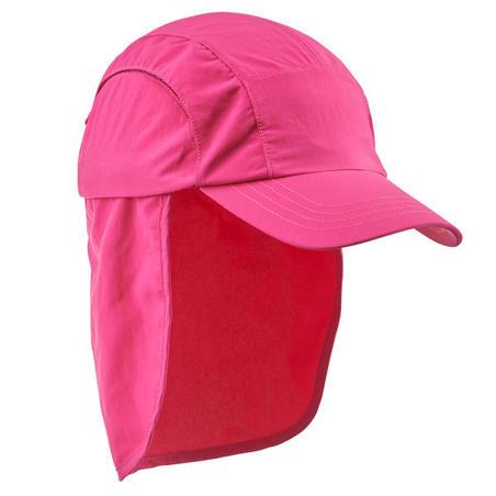 Gorra de senderismo júnior MH500 rosa