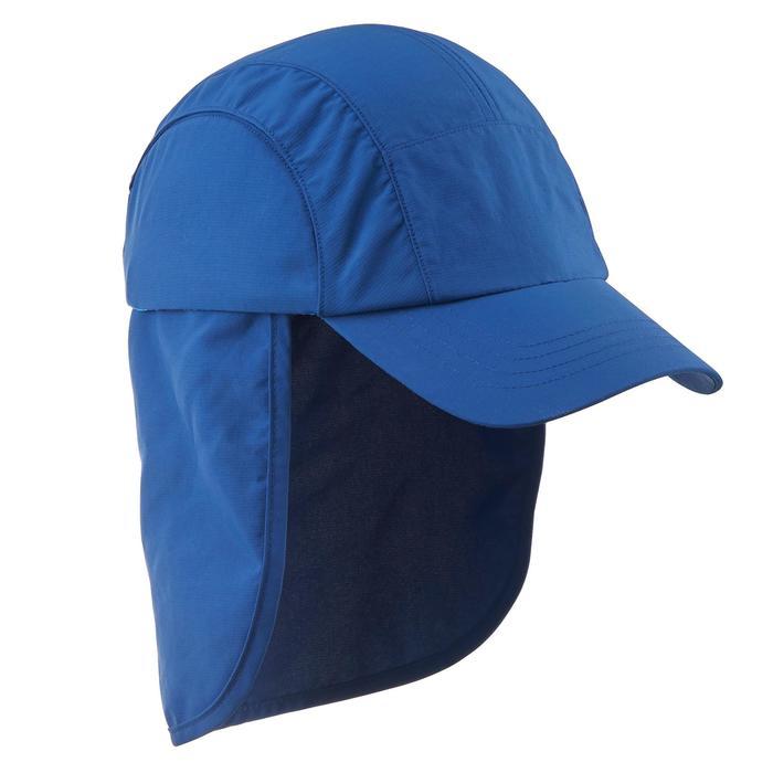 Schirmmütze Cap Hike 500 Kinder Jungen blau