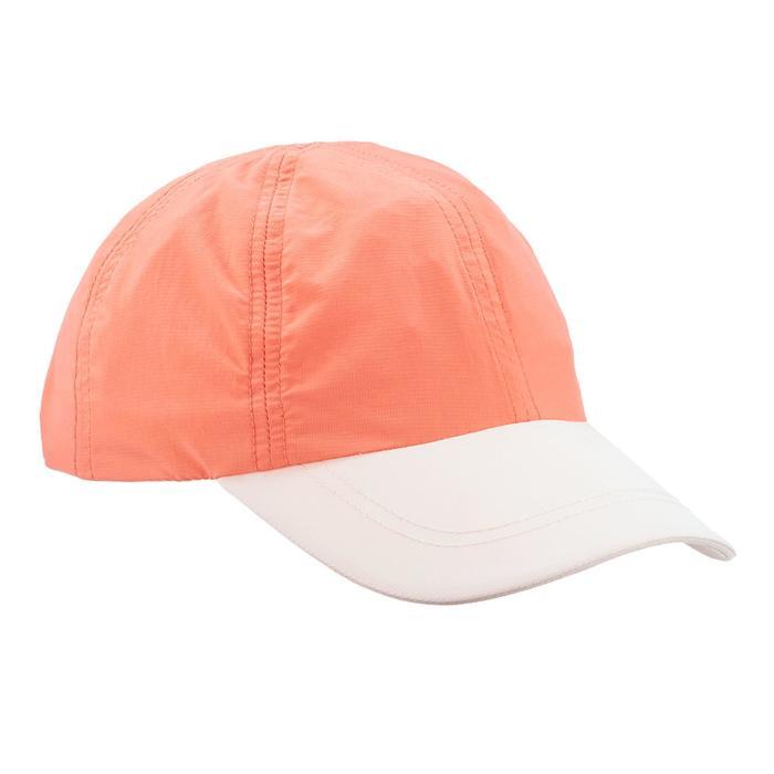 Schirmmütze Cap Hike 100 Kinder Mädchen koralle