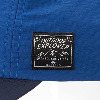 Kids' Hiking cap MH100 - Blue age 7-15 years