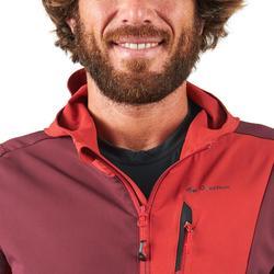 Cortaviento trekking montaña TREK900 hombre rojo