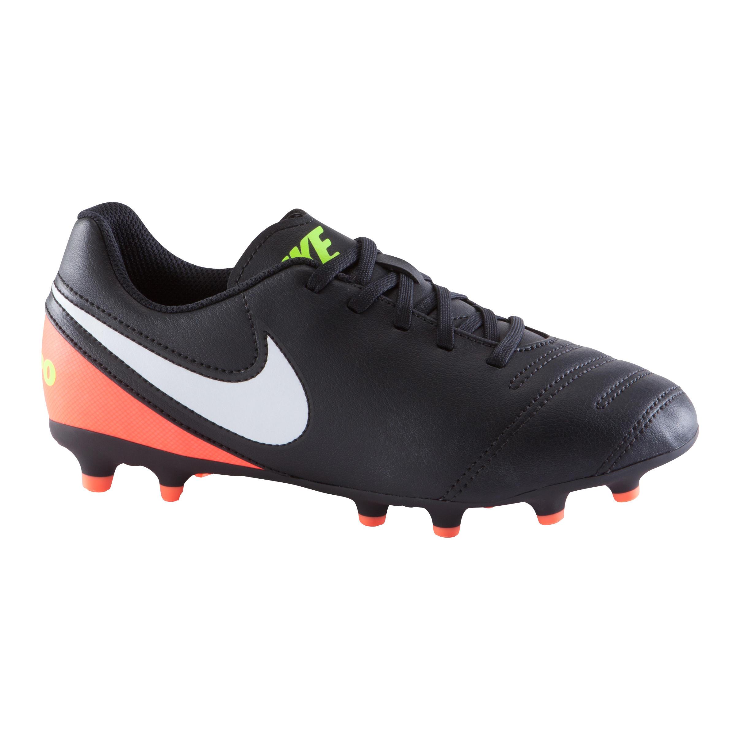 Nike Voetbalschoenen Tiempo Rio FG voor kinderen zwart