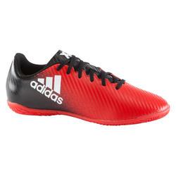 Zaalvoetbalschoenen kinderen X 16.4 rood/zwart