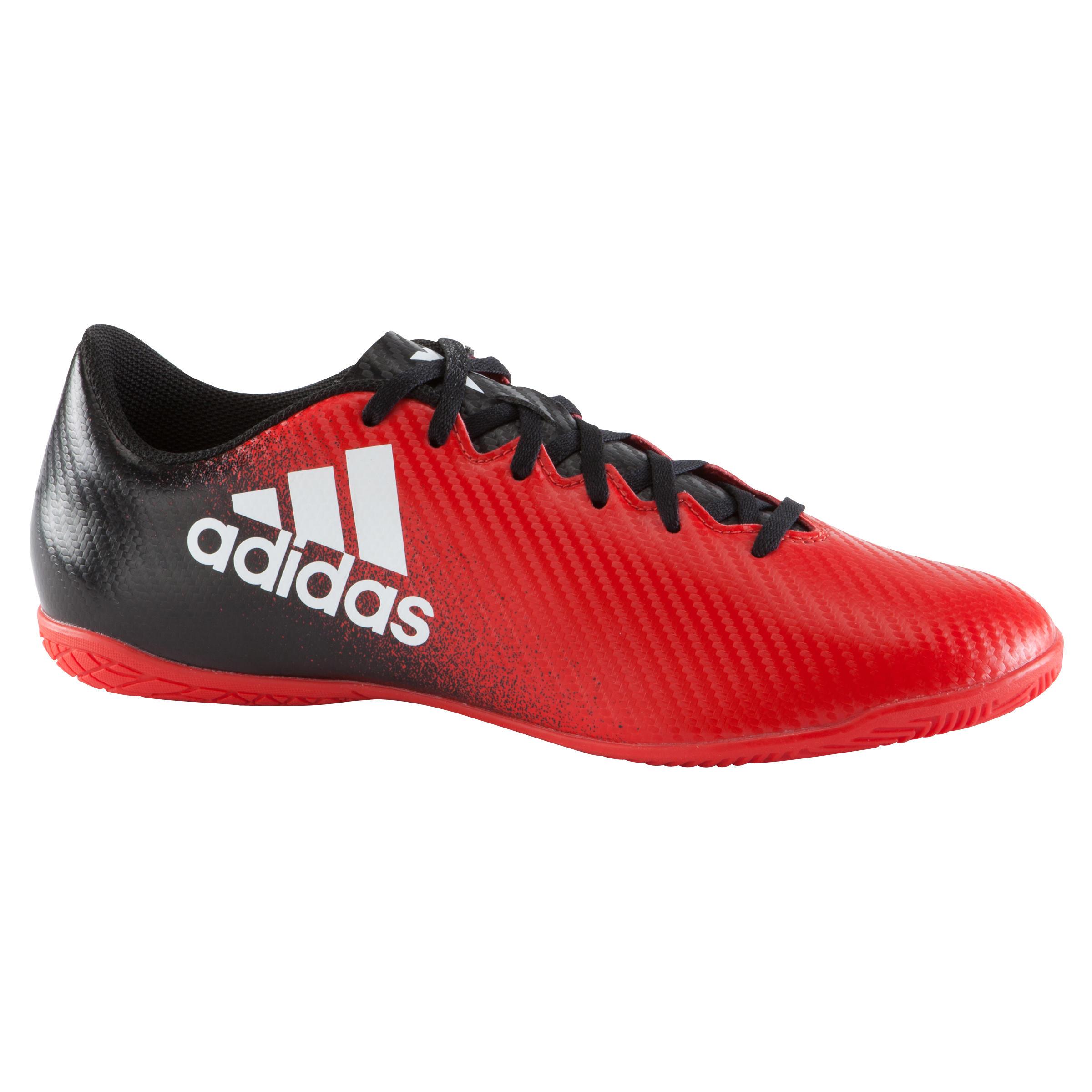 Zaalvoetbalschoenen X 16.4 volwassenen rood-zwart